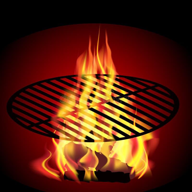 Pożarniczy grill royalty ilustracja