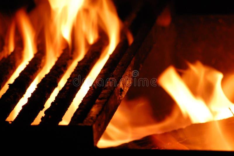 pożarniczy grill fotografia royalty free
