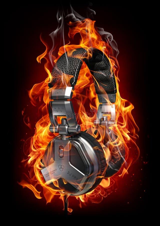 pożarniczy hełmofony ilustracji