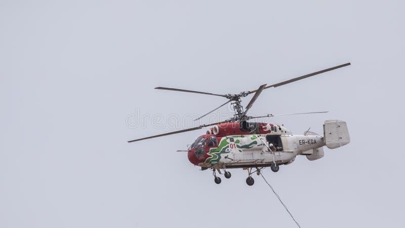 Pożarniczy helikopteru Zbliżać się zdjęcie royalty free
