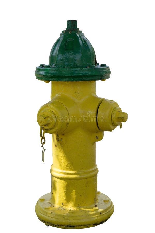 Pożarniczy hydrant Odizolowywający na bielu zdjęcie royalty free