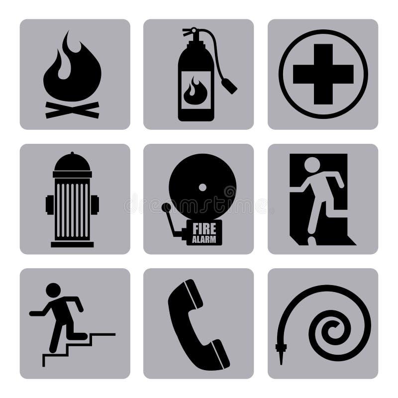 Pożarniczy ikona projekt ilustracja wektor