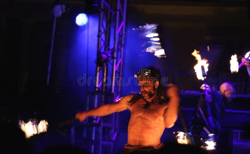 Pożarniczy juggler zdjęcie royalty free