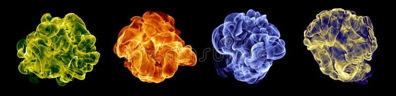 pożarniczy koloru set fotografia royalty free