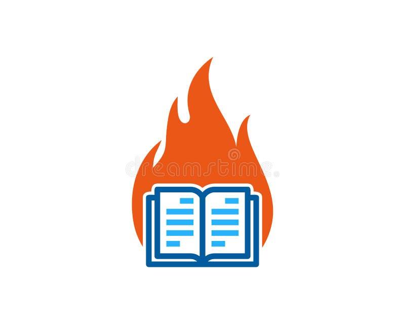 Pożarniczy Książkowy logo ikony projekt royalty ilustracja
