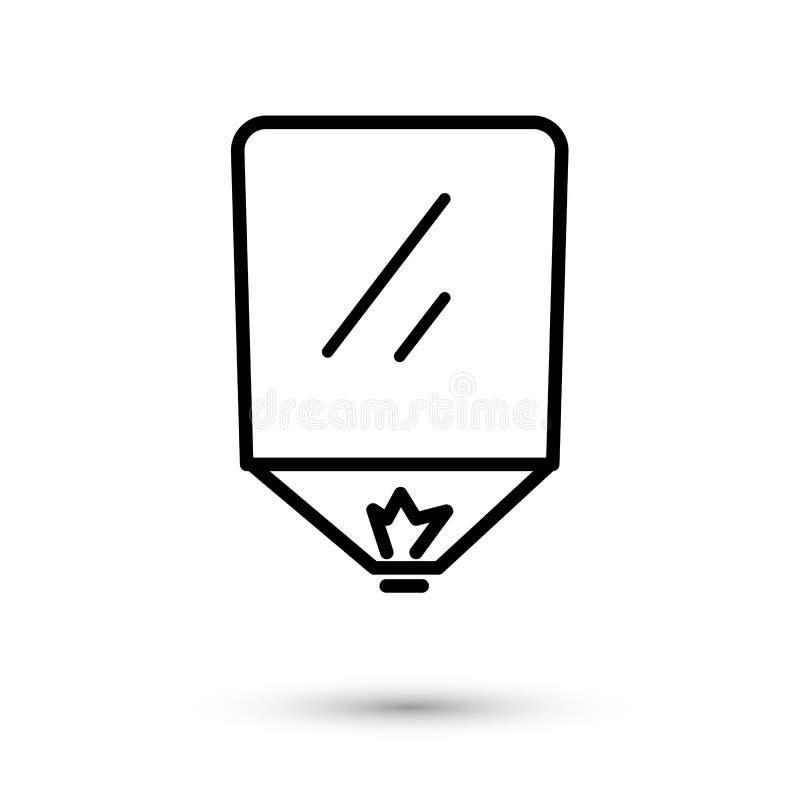 Pożarniczy lampion w niebo wektorowej liniowej ilustracji ilustracja wektor