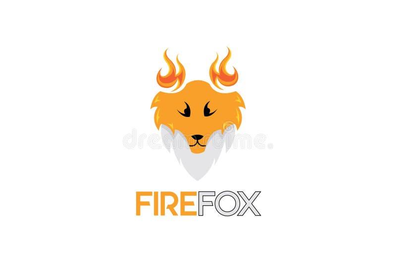 Pożarniczy lisa logo ilustracja wektor