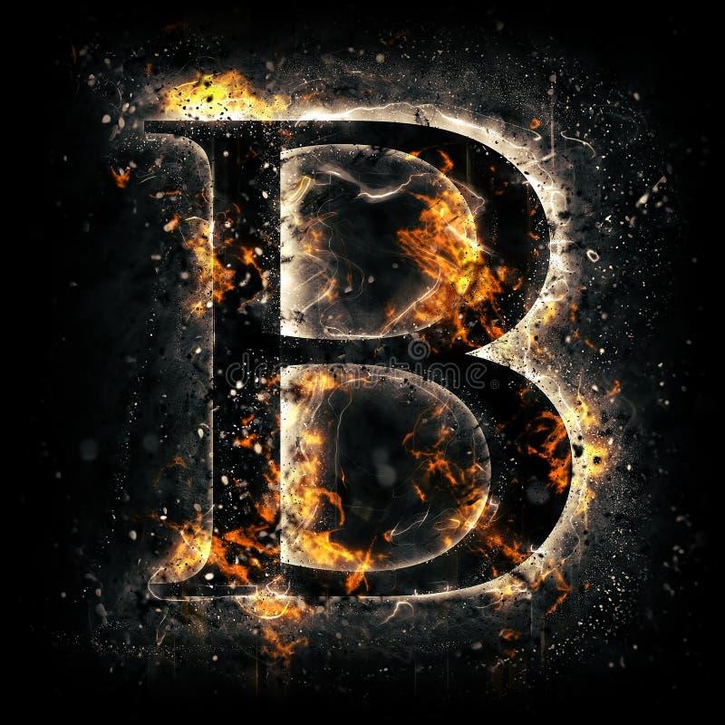 Pożarniczy listowy b ilustracji