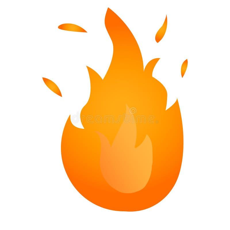 pożarniczy logo Rewolucjonistka, koloru żółtego ogień royalty ilustracja
