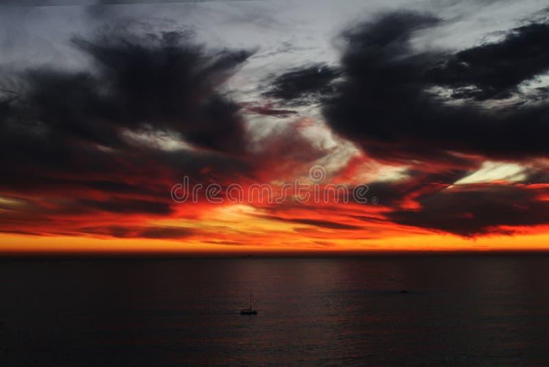 Pożarniczy niebo przylądek zdjęcia royalty free