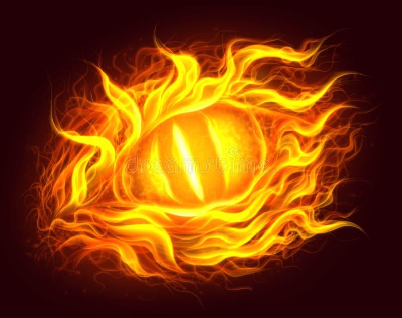 Pożarniczy oko ilustracja wektor