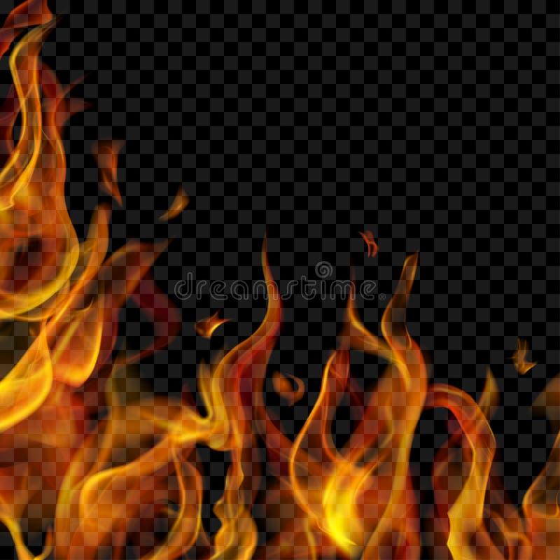Pożarniczy płomień na lewicie i below ilustracji