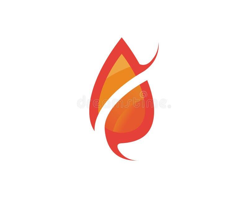 Pożarniczy płomień natury logo i symbol ikon szablon ilustracji