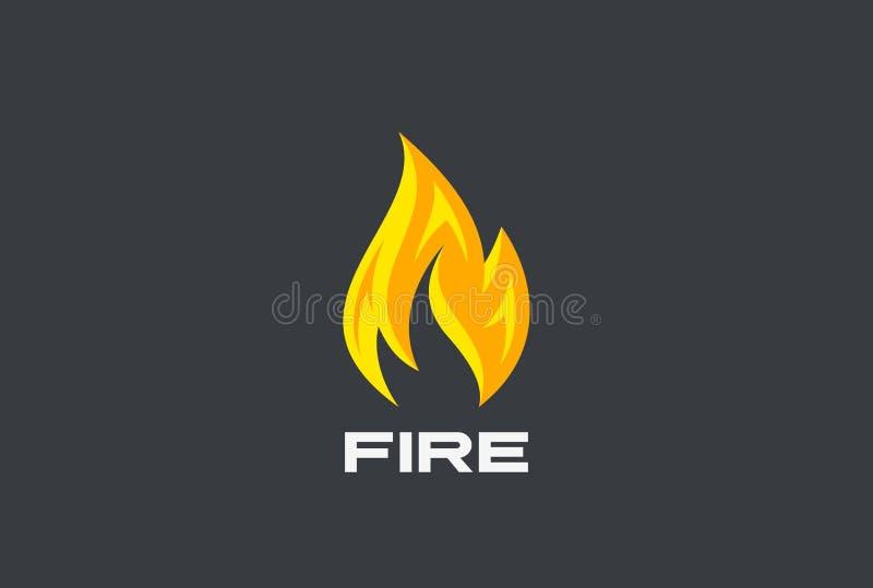 Pożarniczy płomienia loga projekta wektor Płonący Energetyczny Powe ilustracja wektor