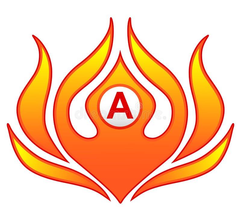 Pożarniczy płomienia logo Kreatywnie wektorowy loga projekt z gorącymi ogieni płomieniami i wizytówka szablonem ilustracji