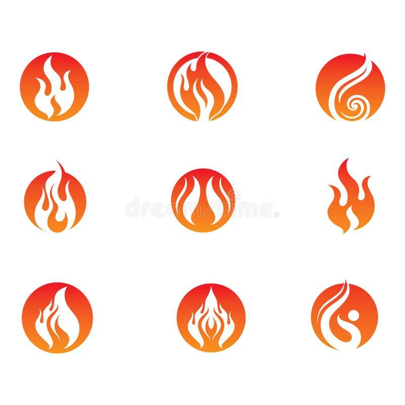 Pożarniczy płomienia logo, symbol i ilustracji