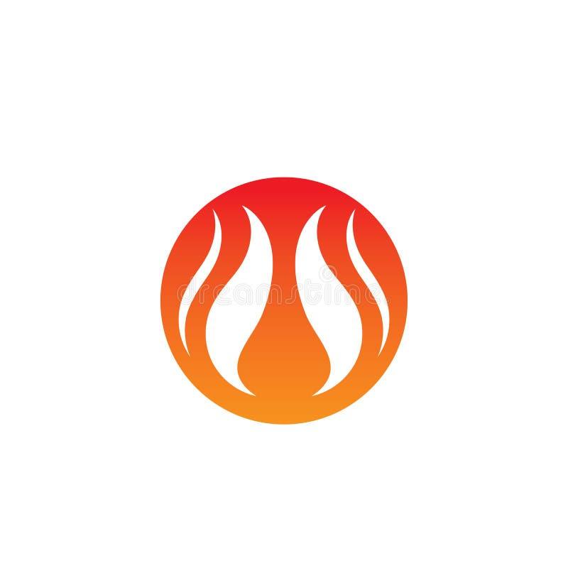 Pożarniczy płomienia logo, symbol i royalty ilustracja