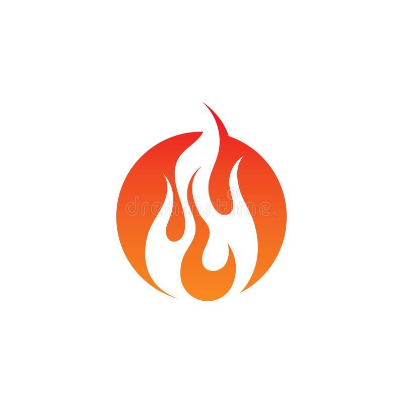 Pożarniczy płomienia logo, symbol i ilustracja wektor