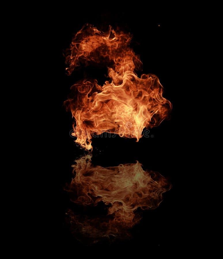 pożarniczy płomienie fotografia royalty free