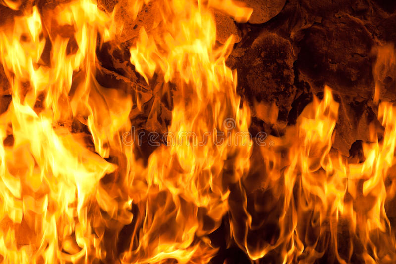 pożarniczy płomienie obraz royalty free