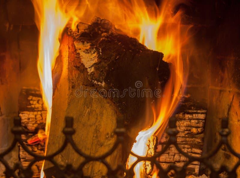 Pożarniczy palenie ogień fotografia royalty free