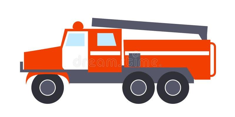 Pożarniczy silnik z drabiny Odosobnioną ilustracją ilustracja wektor