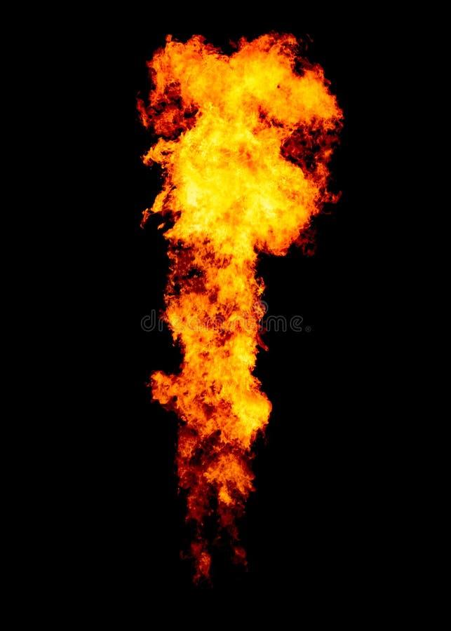 Pożarniczy strumień odizolowywający na czerni fotografia stock