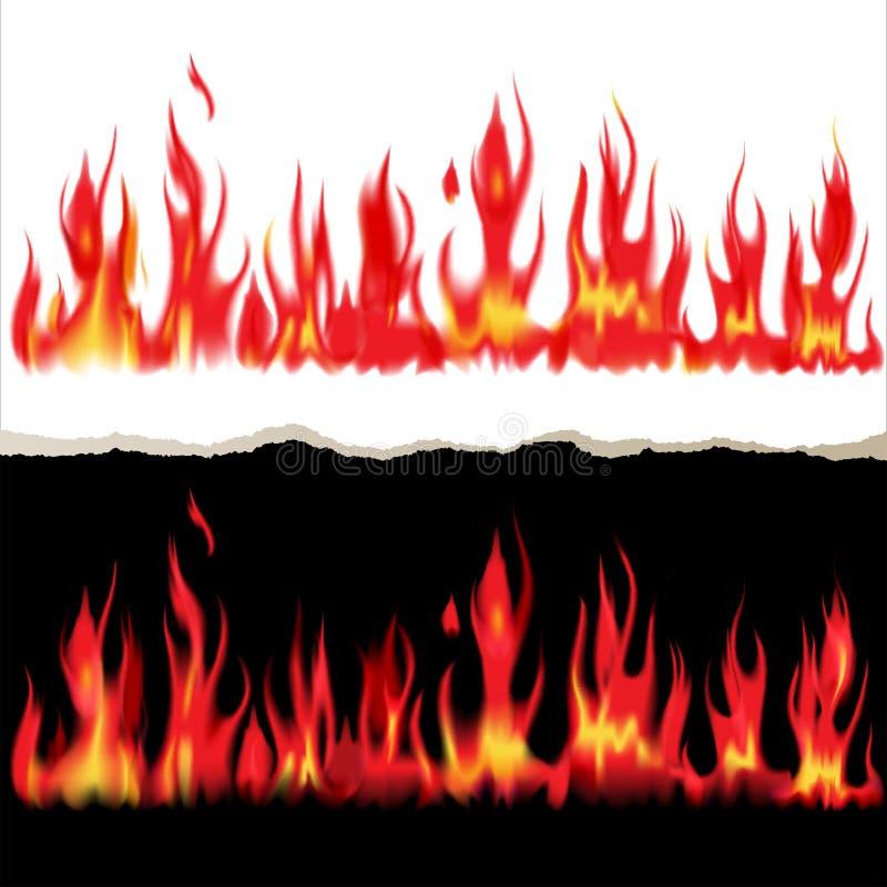 Pożarniczy sztandary royalty ilustracja