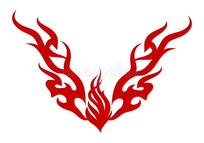 pożarniczy traditonal ornamentu tatuaż royalty ilustracja