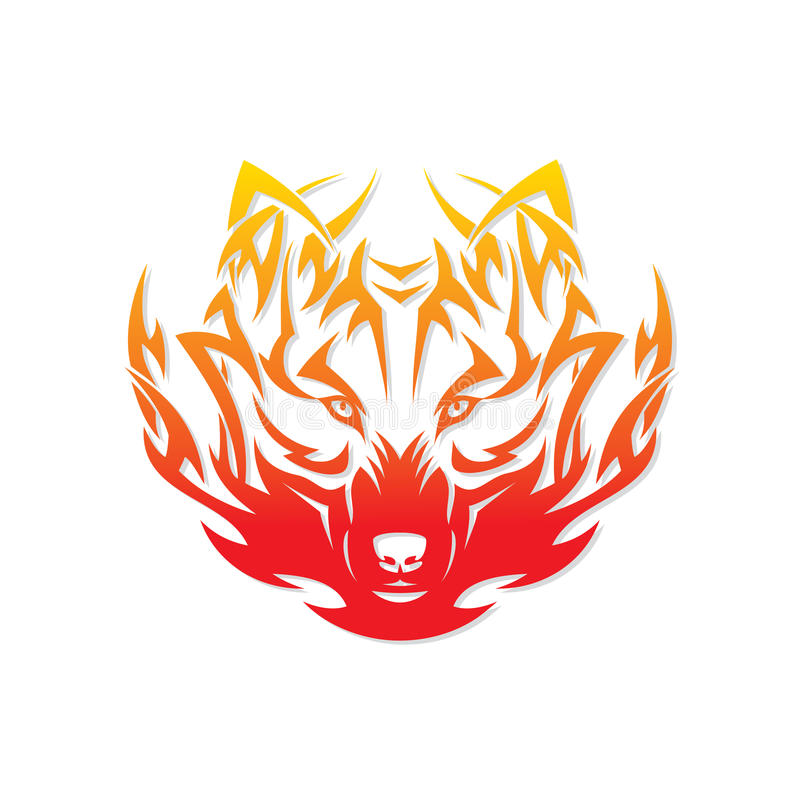 Pożarniczy wilk ilustracja wektor