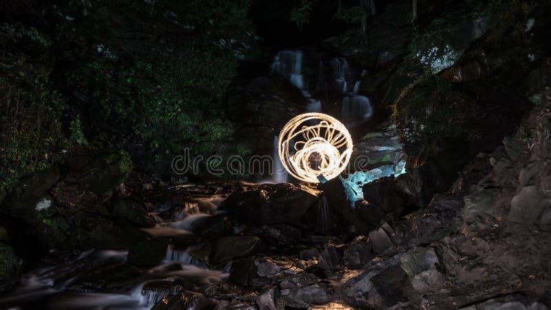 Pożarniczy woda kamienia czas zdjęcie royalty free