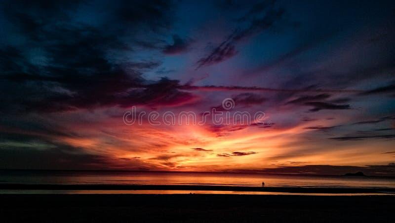 Pożarniczy wschód słońca zdjęcia stock