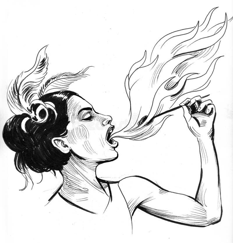 Pożarniczy zjadacz ilustracja wektor