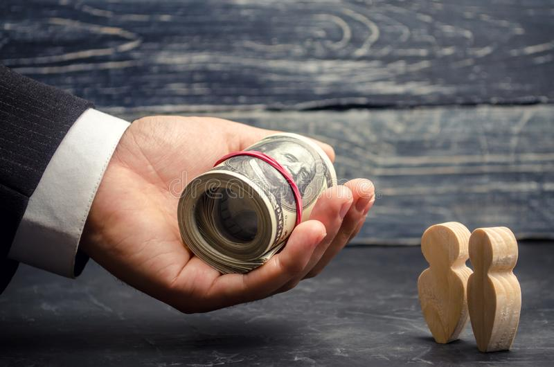 Pożyczać biznes Konsumpcyjny pożyczanie Kredyty dla edukacji Zapłata emerytury Fundusz emerytalny Ogólnospołeczne zapłaty Wspiera zdjęcie stock
