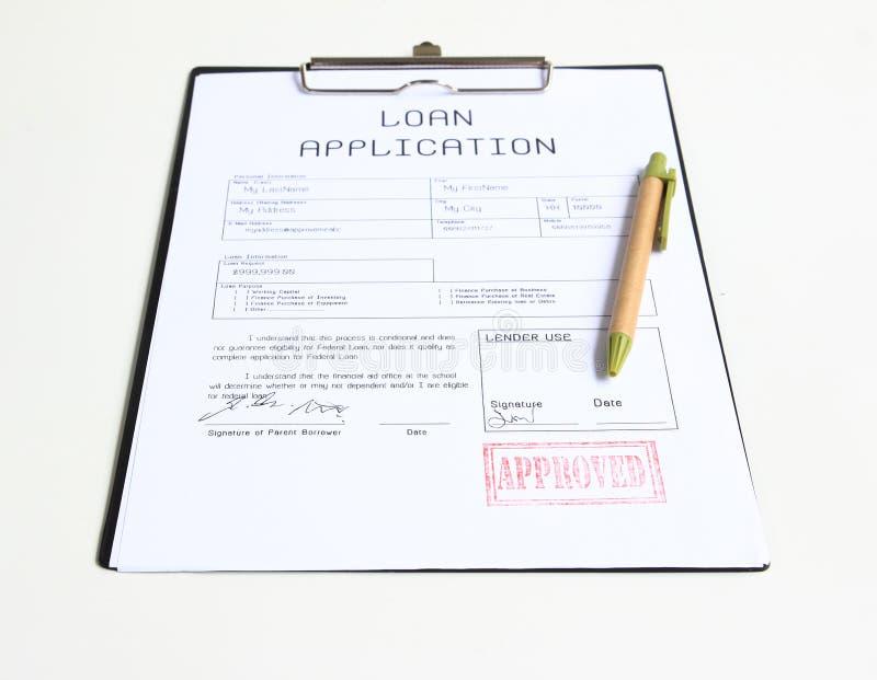 Pożyczka zatwierdzający znaczek obraz royalty free