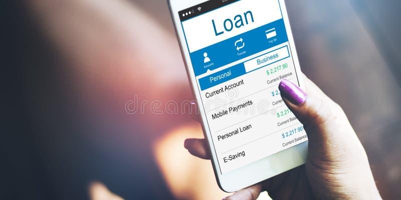 Pożyczkowa bankowość Rozlicza budżeta pieniądze pojęcie zdjęcia royalty free
