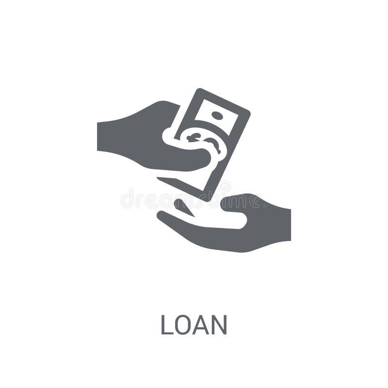 Pożyczkowa ikona Modny Pożyczkowy logo pojęcie na białym tle od płaczu royalty ilustracja