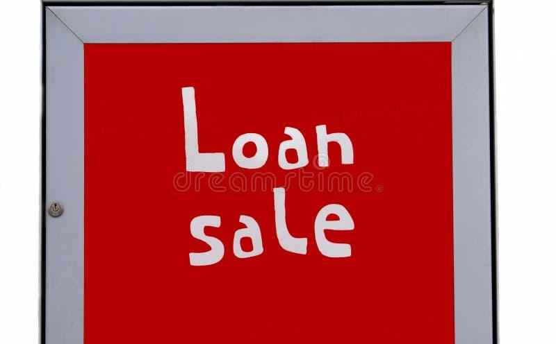 Pożyczkowej sprzedaży znak zdjęcie stock