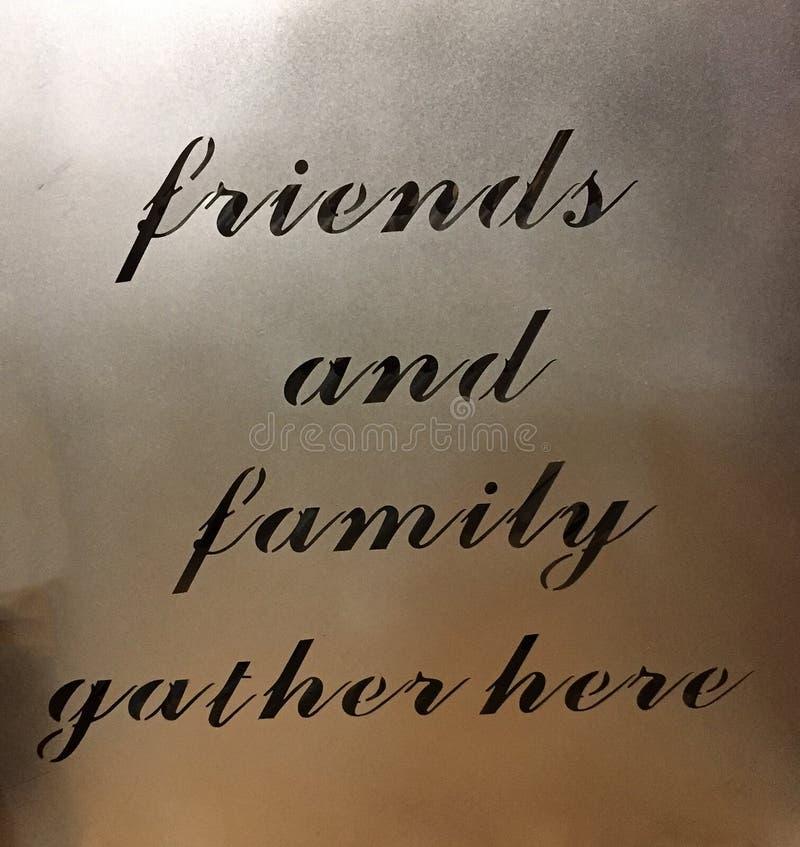 Pożytecznie porady o przyjaciołach i rodzinie obraz royalty free