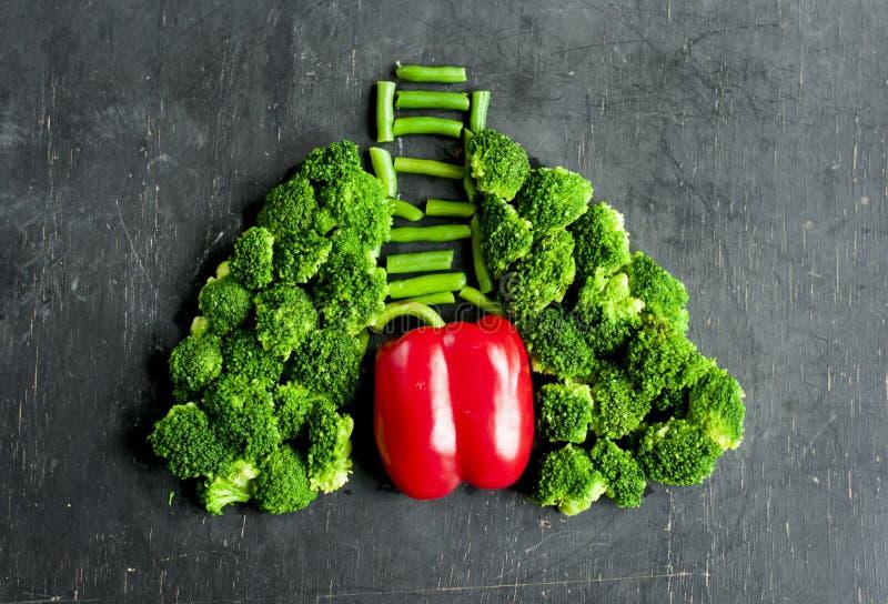 Pożytecznie warzywa utrzymywać płuca i serca zdrowie zdjęcia stock