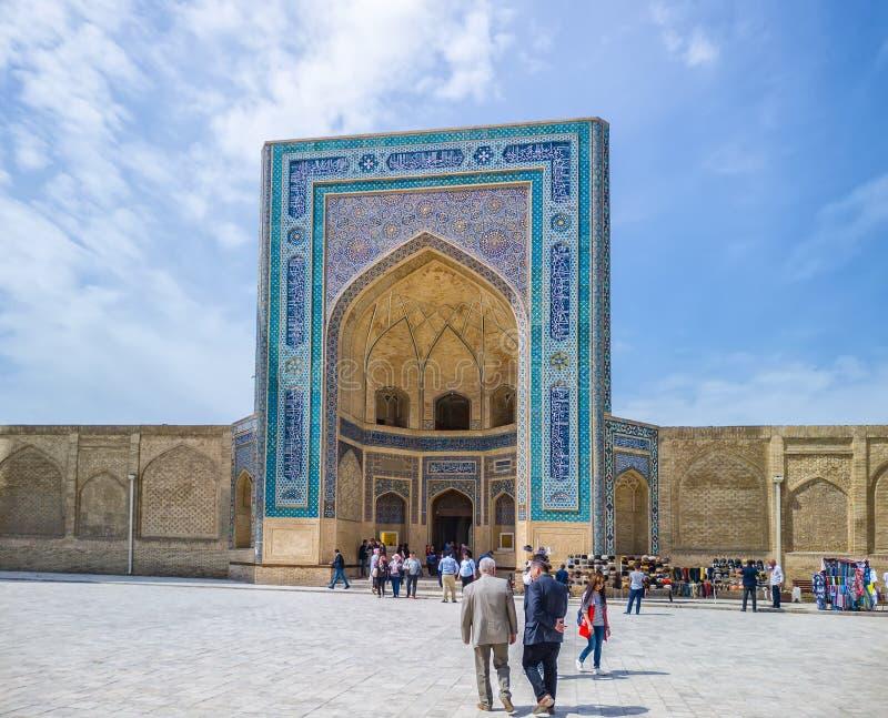 Po我卡尔扬清真寺Kalon清真寺,布哈拉,乌兹别克斯坦,中亚 免版税图库摄影
