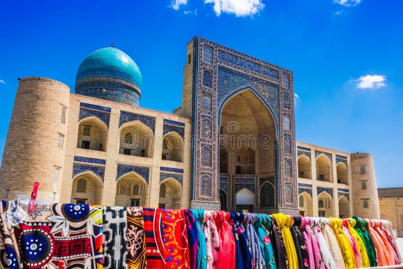 Po我Kalan或Poi Kalan复合体在布哈拉,乌兹别克斯坦 免版税图库摄影