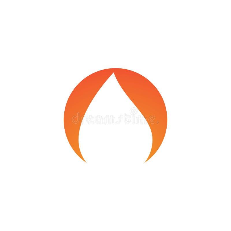 Po?arniczy p?omienia logo ilustracja wektor