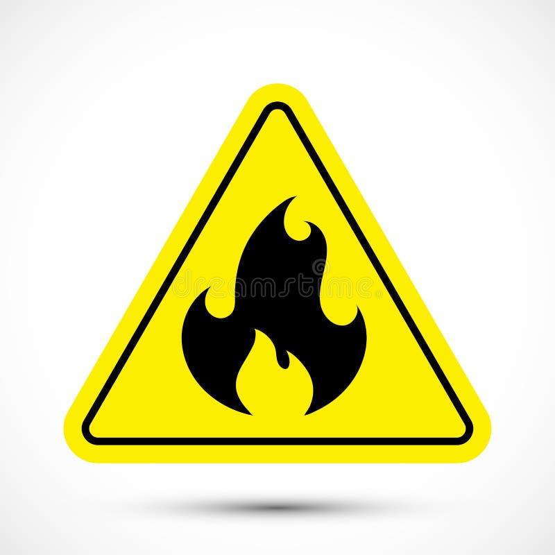 Po?arniczy znak ostrzegawczy royalty ilustracja