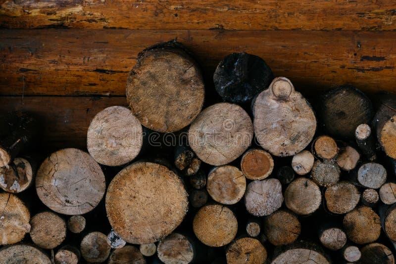 po?arniczych bel palowy drewno fotografia stock