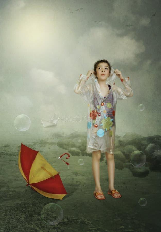 Po deszczu ilustracja wektor