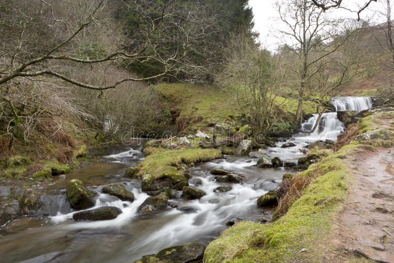 Po deszczu w Walijskich dolinach fotografia stock