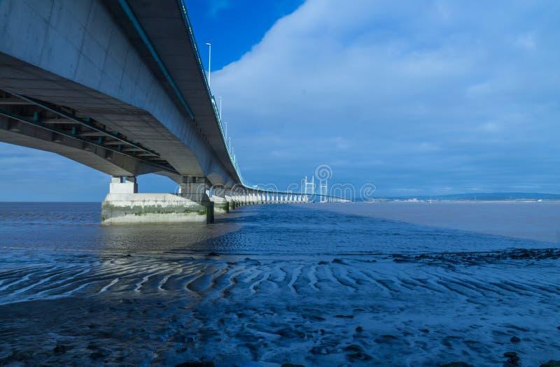 Po drugie Severn skrzyżowanie, most nad Bristol kanałem między Engl fotografia stock