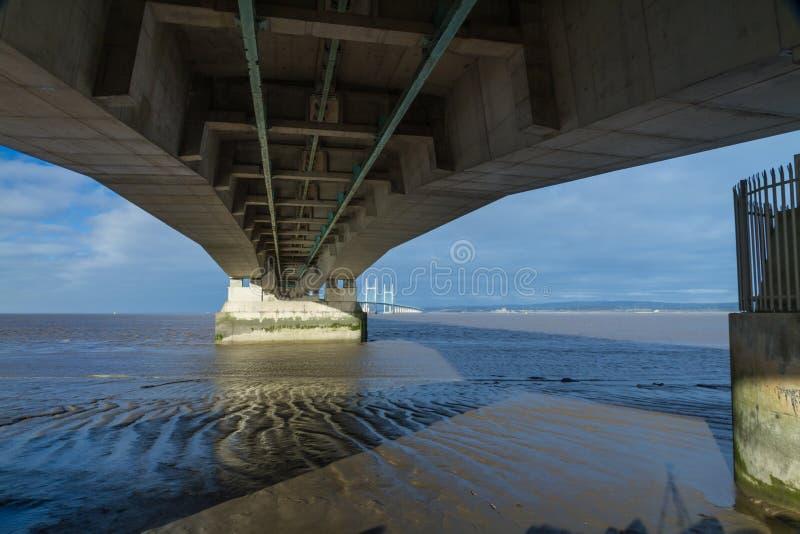 Po drugie Severn skrzyżowanie, most nad Bristol kanałem między Engl zdjęcia stock