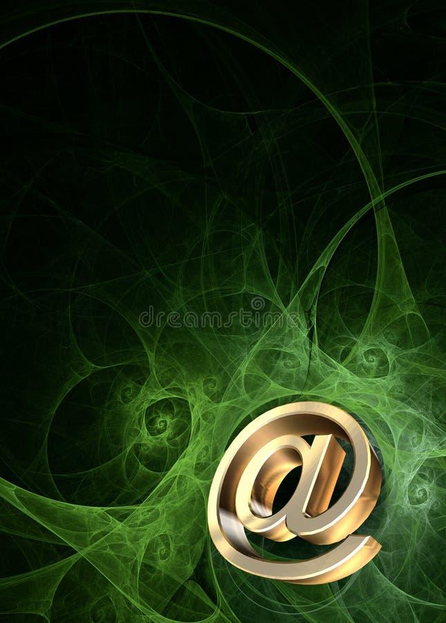 po e - mail fotografia stock